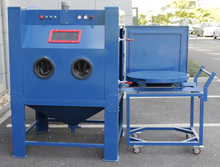 Turntable Manual Sandblasting Machine for Wheel