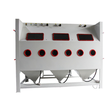 Multi-station Manual Sand Blast Cabinet, Large Sandblasting Equipment